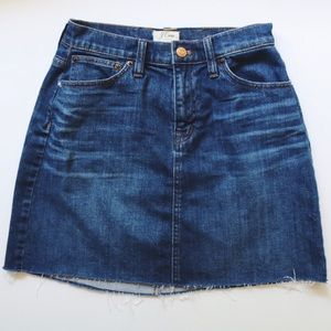 J. Crew denim skirt.